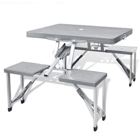 tavoli in alluminio pieghevoli articoli per set tavolo da ceggio pieghevole con 4