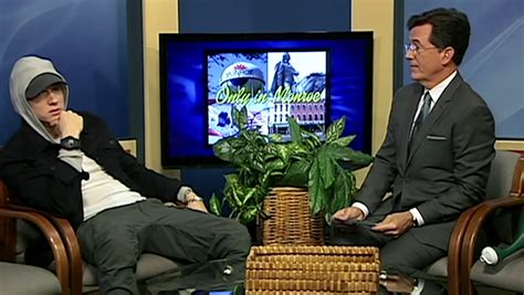 eminem interview watch stephen colbert interviews eminem on public access