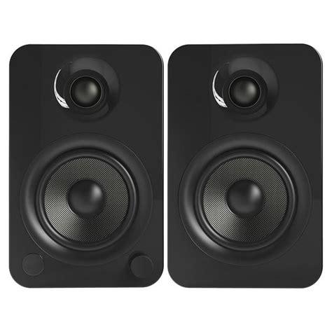 kanto yu4 powered bookshelf speakers gloss black yu4gb