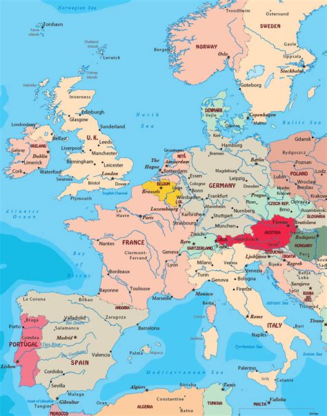 Map Of West Europe by Map West Europe