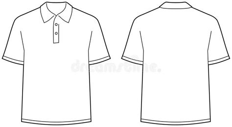 Tshirt Kaos Element polo shirt front and back view isolated stock vector