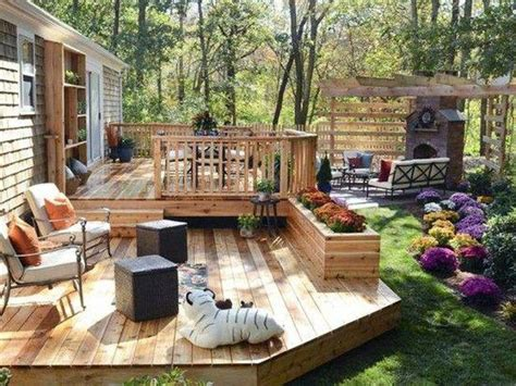 Deck Ideas For Backyard Backyard Deck Ideas On A Budget Outdoor Decking Backyard And Budgeting