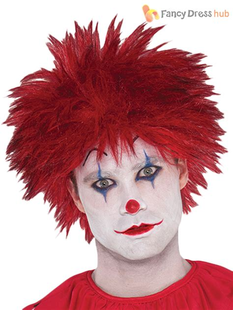halloween fancy dress costumes scary masks and wigs mens evil clown costume adults circus halloween fancy