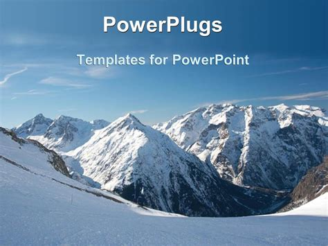 Powerpoint Template Snowy Mountains Snow On Mountain Snow Powerpoint Template