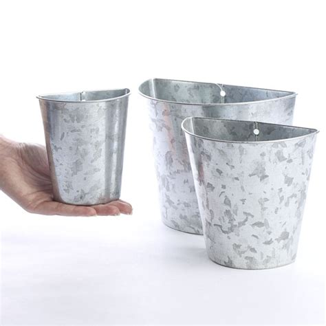 Tin Decor by Galvanized Tin Wall Pockets Baskets Buckets Boxes