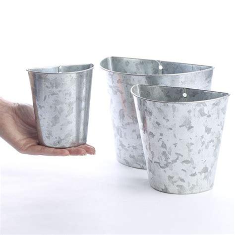 tin home decor galvanized tin wall pockets baskets buckets boxes