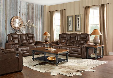 eric church creates highway to home furniture collection eric church highway to home chief brown 3 pc power reclining living room living room sets brown