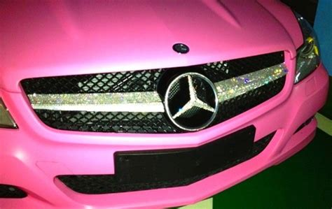 pink sparkly mercedes via image 845163 by arakan on favim com