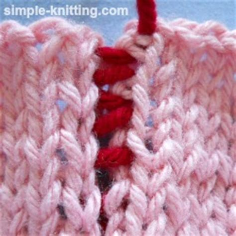 knitting sewing pieces together mattress stitch seaming technique for knitting