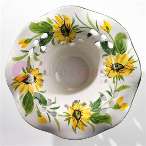 ladari ferro battuto e ceramica lada da tavolo ferro battuto e ceramica country