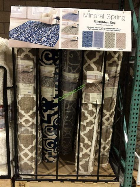 costco rugs in store mineral springs microfiber area rug 6 x 9 6 costcochaser