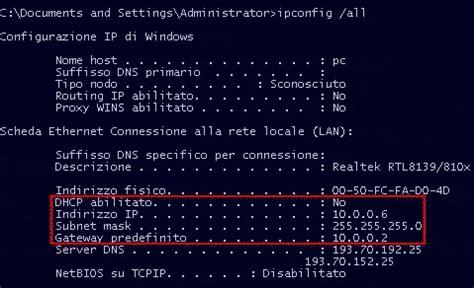 indirizzo ip interno emule italia emule configurazioni assegnare un ip