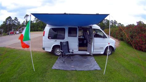 awning for van diy van awning for under 50 check it out youtube