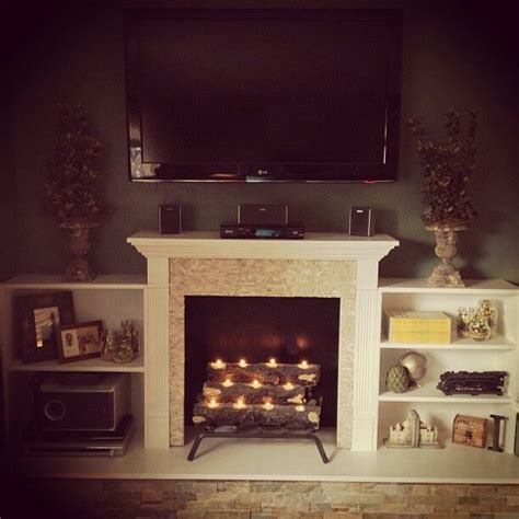 25 best ideas about faux fireplace on