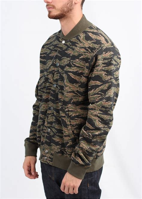 Obey Camo obey back lot jacket tiger camo
