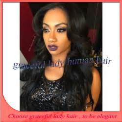 middle part black hairstyles fashion hairstyle wavy american wigs middle part