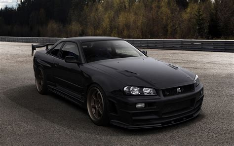 nissan r34 black black cars nissan vehicles matte black cars nissan