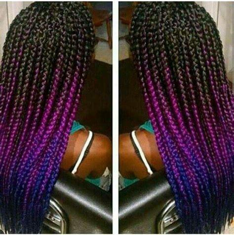colorful box braids hair box hair style