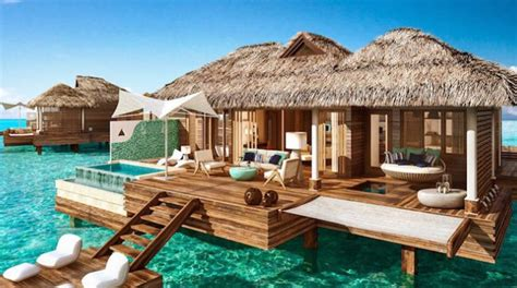 sandals south coast opens booking on overwater bungalows in st lucia s canaries a home for art
