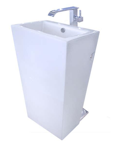 modern bathroom pedestal sink cesaro ii modern pedestal sink