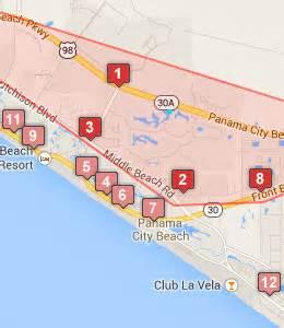 map of hotels in florida panama city hotels near the gulf panama city