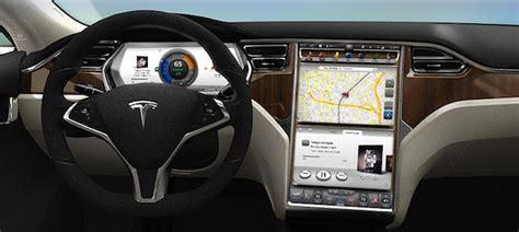 Tesla Interior Screen by 7 Seats In A Sedan Tesla S Flat Pack Battery Model S