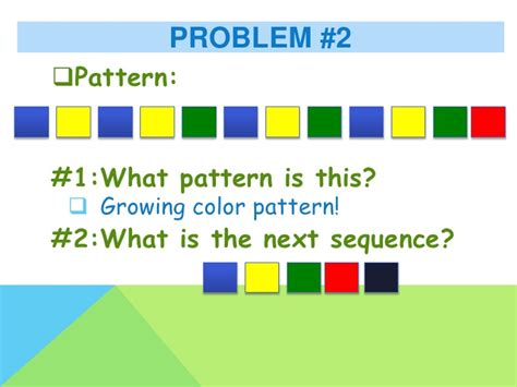 definition of pattern in math for kindergarten repeating and growing patterns