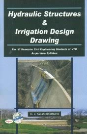 buy hydraulic structures irrigation design drawing for