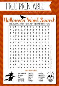 Printable halloween word search