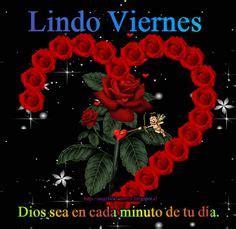 imagenes feliz viernes brillo ositos corazon y rosa con mensajes de amor con movimiento