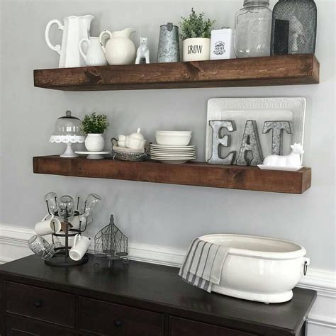 decorating kitchen shelves ideas shanty2chic dining room floating shelves by myneutralnest