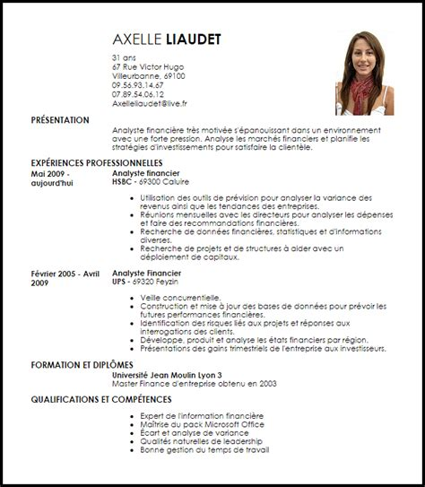 Lettre De Motivation Banque Analyste Financier Exemple Cv Analyste Financier Livecareer