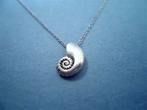 mermaid ariels voice shell vintage silver plated