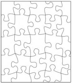 Puzzle Template Transfer This Puzzle To A Large Poster Write A Message On The Back And Cut Out Puzzle Template Pdf