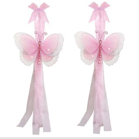 butterfly tie backs for curtains butterfly curtain tieback pair set tiebacks holder sheer