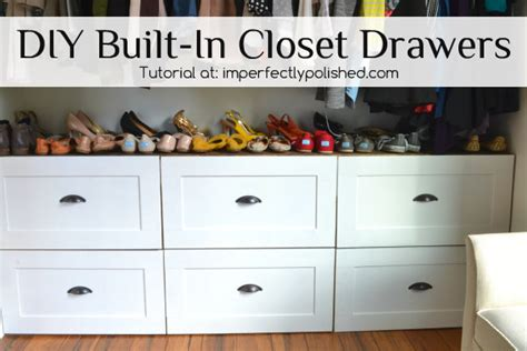 Build Drawers In Closet by Diy Built In Closet Drawer Storage