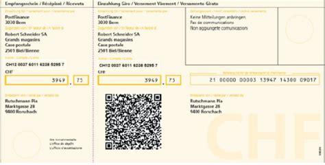 bank clearing number postfinance einzahlungsschein mit qr code wird konkret run my accounts