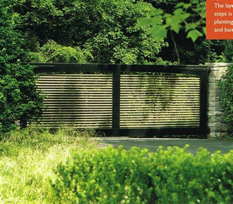 modern clean driveway gate fences driveway gate