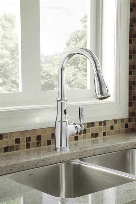 moen brantford kitchen faucet moen 7185ec brantford with motionsense single handle high