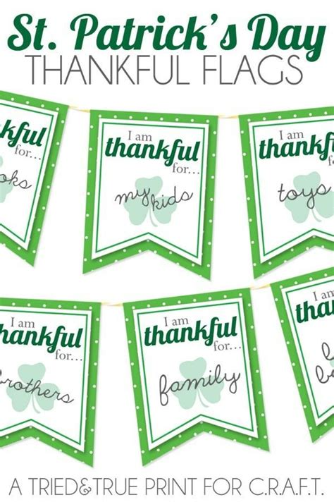 st patricks day decorations free printable flags