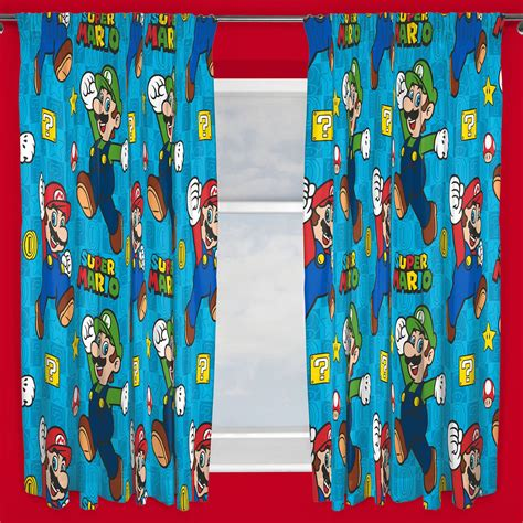 mario bros curtains nintendo super mario games curtains available in two drop