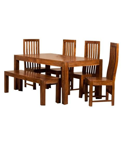 wood dining set with bench solid wood 6 seater dining set with bench buy solid wood
