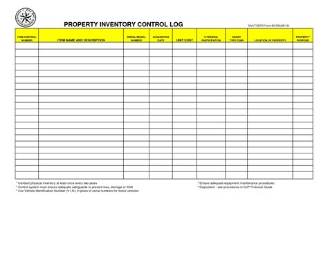 equipment inventory template best photos of supply inventory sheet printable free