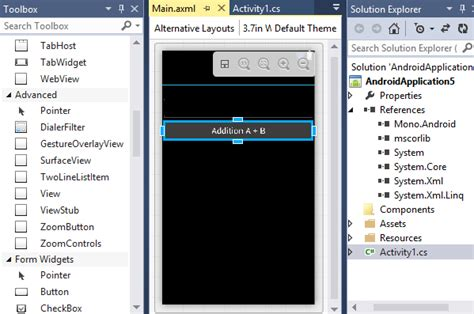 Visual Studio Layout Android | android on visual studio codeproject