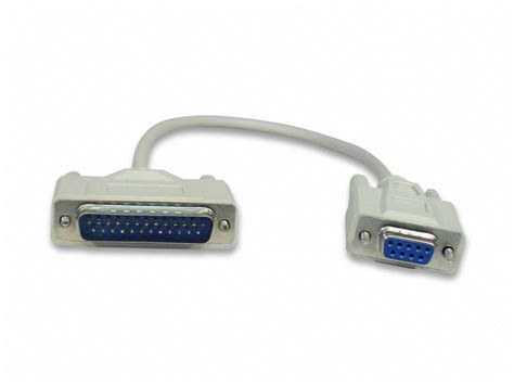 1 foot db9 db25 serial port cable rs232