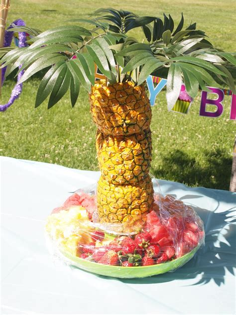Pineapple Tree Decoration by Kisses And Crafts Sweet Escape Luau