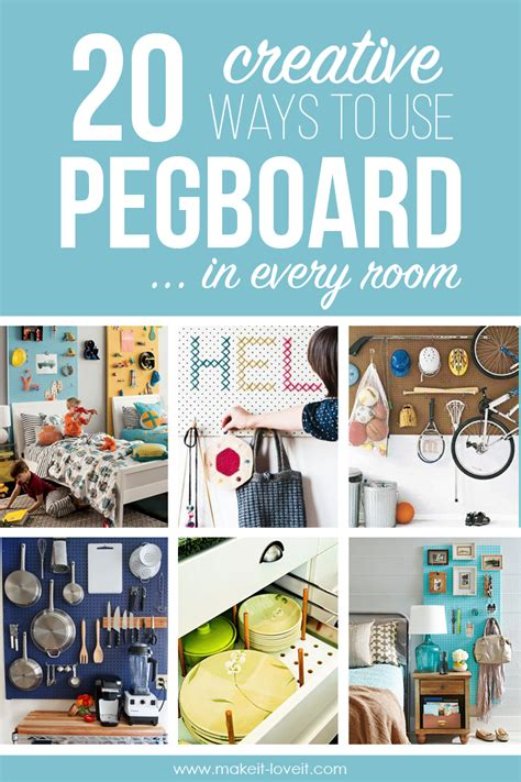 20 creative ways to use pegboard in every room make it