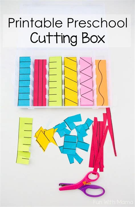 pattern maker skills printable preschool cutting busy box scissor skills