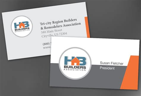 business card template for builders association order