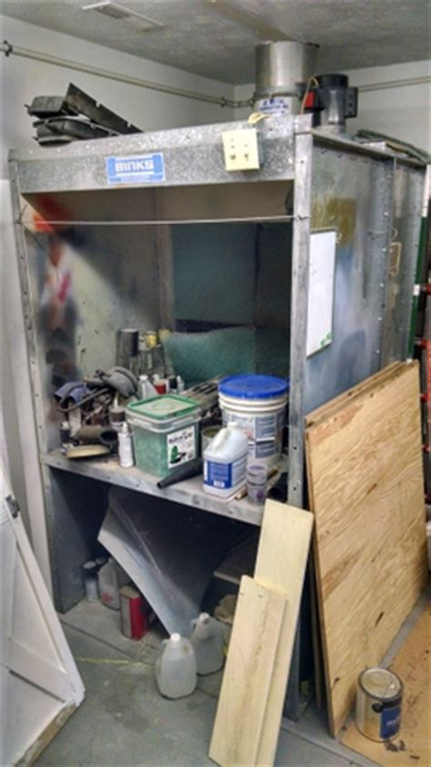 cabinet spray booth for sale binks paint booth spray cabinet with fan ptci classifieds